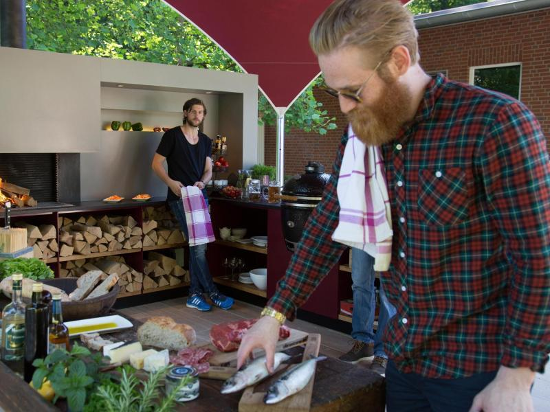 Outdoorküche Klein Verletzt : Kochen und spülen im garten outdoorküche für den sommer