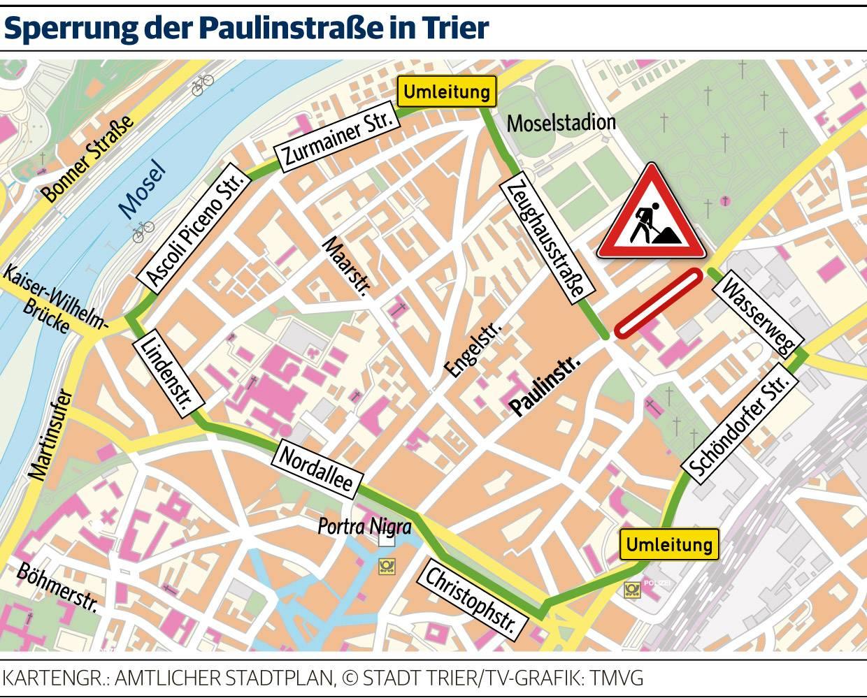 Paulinstrasse Wird Am 21 Juli Gesperrt