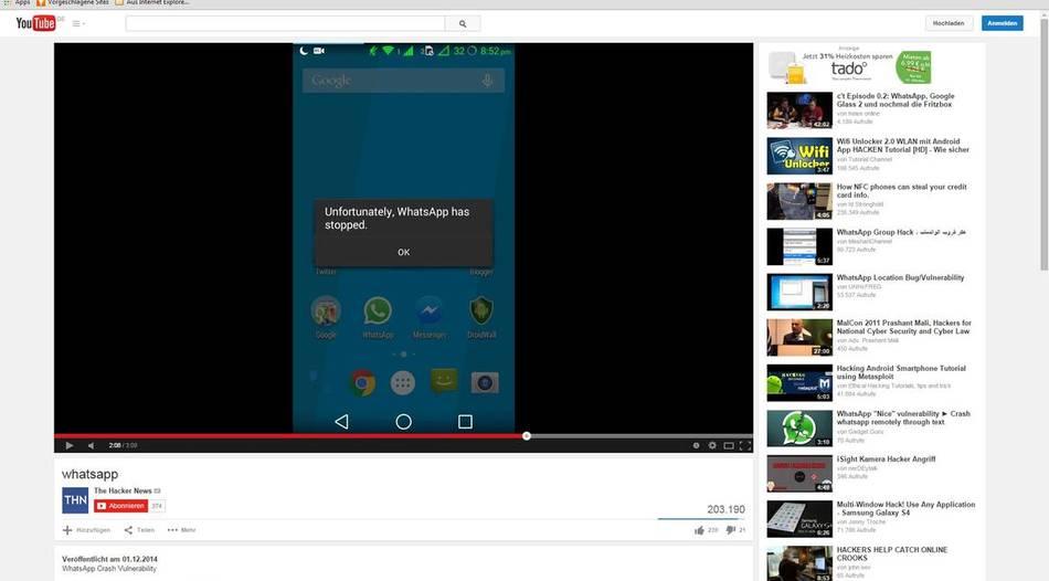 Sicherheitslücke: Spezielle Nachricht lässt WhatsApp abstürzen