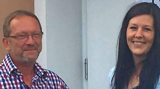 Dietmar Grundheber und Denise Ziehm.