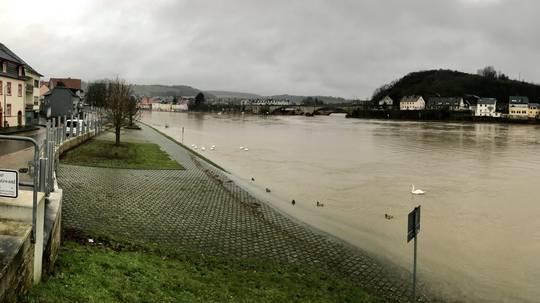 Erste Schutzmaßnahmen laufen Köln in Sorge vor Hochwasser