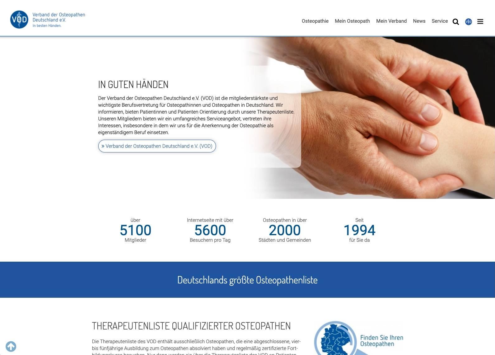 Verband der Osteopathen Deutschland e.V.: Osteopath
